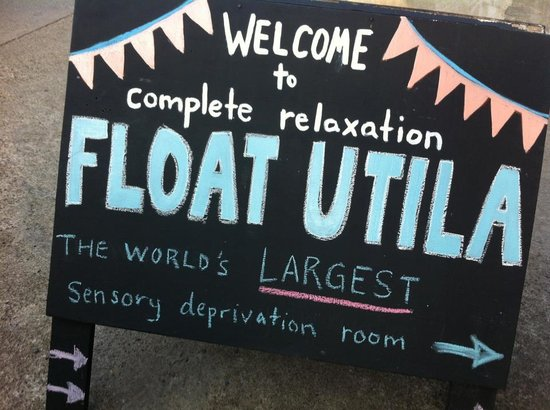 Float Utila: Sign Out Front