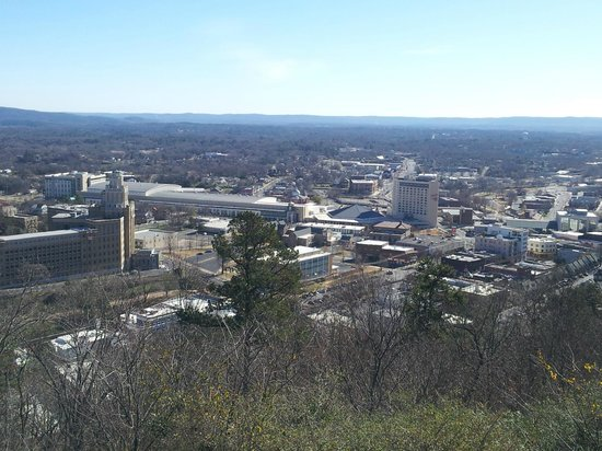 Hot Springs Mountain: view of the local university from the top of the mountain