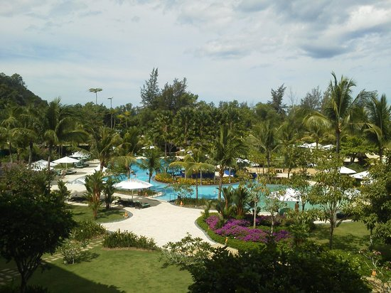 Shangri-La's Rasa Ria Resort & Spa: view from the balcony