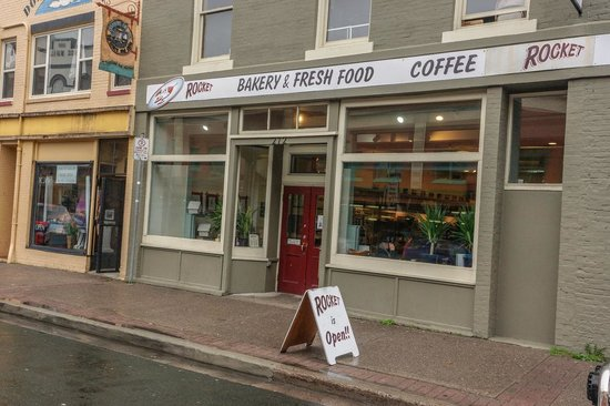 Rocket Bakery and Fresh Food: Exterior of Rocket from Water Street, St. John's NFL