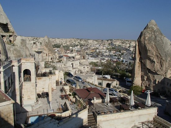 Vezir Cave Suites: View of Goreme from Hotel