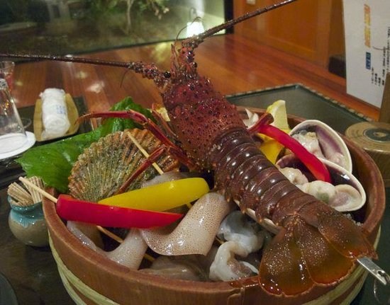 Oishiya: 炙り会席の食材