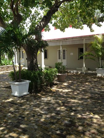Barbados Museum & Historical Society : The prison courtyard - a nice slice of Barbados' history