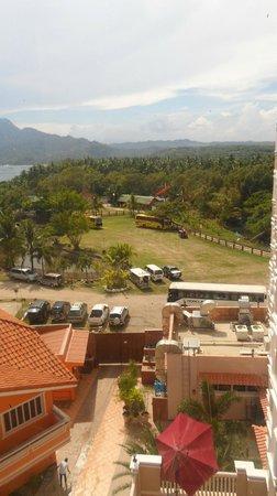 Estrellas de Mendoza Playa Resort: a nearby resort (one laiya) view