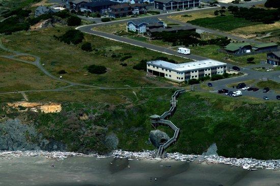 Bandon Beach Motel From The Air