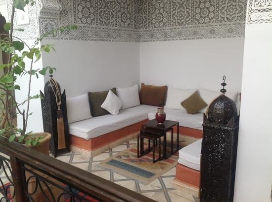 Riad Les Nuits de Marrakech: somewhere to sit in the shade
