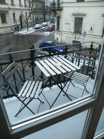 Crystal Suites: Vista desde el balcón