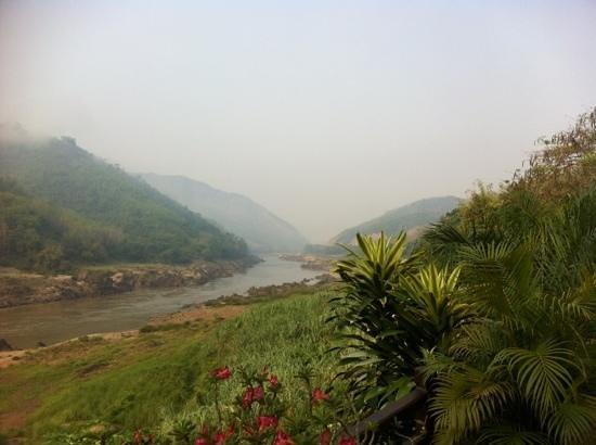 Luang Say Lodge: Aussicht flussaufwärts