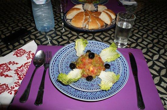 Riad Lakhdar: antipasto (insalata di pomodori)