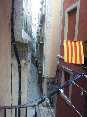 Pension Borras: Veduta dal balcone (sinistra)
