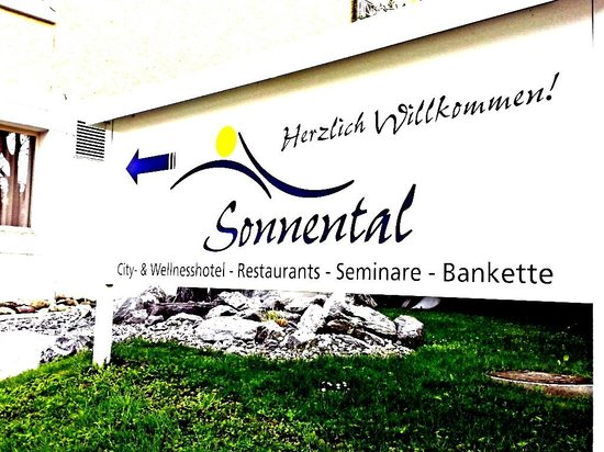 Sorell Hotel Sonnental: hotel sign