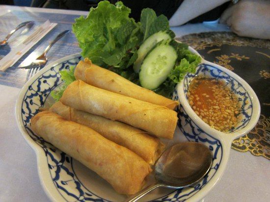 Veggie spring rolls picture of thailand cuisine kahului for Asian cuisine maui