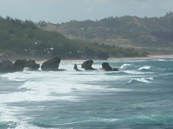 Bathsheba Beach: The rugged waters 2