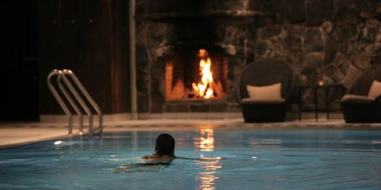 Hotel Union Geiranger, indoor pool 32'C