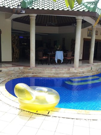 Bali Jade Villas: Pool area looking int living area