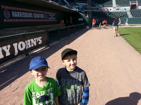 City Island : Blake and camron after fun the bases!
