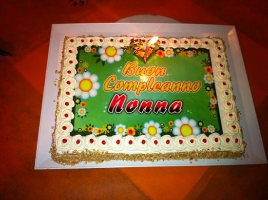 torta compleanno nonna   Picture of Pasticceria & Caffetteria