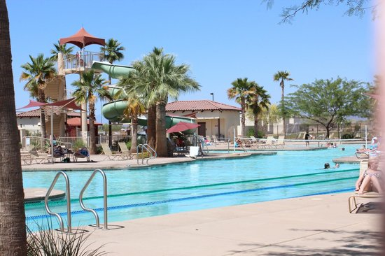 Cibola Vista: slide at the pool