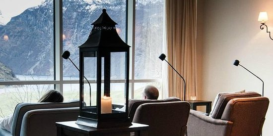 Hotel Union Geiranger: View from Union Spa, relaxation area