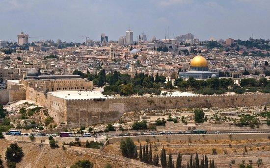 Israel Travel Company: Jerusalem from Mt of Olives