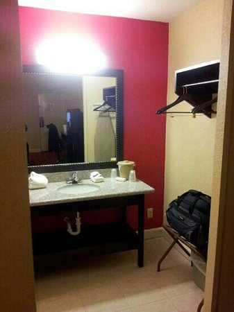 Red Roof Inn Hot Springs: Sink & Luggage area