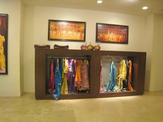 Kalakriti Cultural & Convention Center : Some of the costumes on display in the foyer