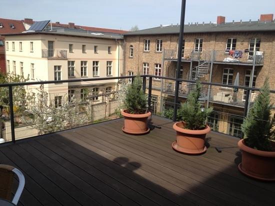 Hotel zum Hofmaler: Dachterrasse von Zimmer 32