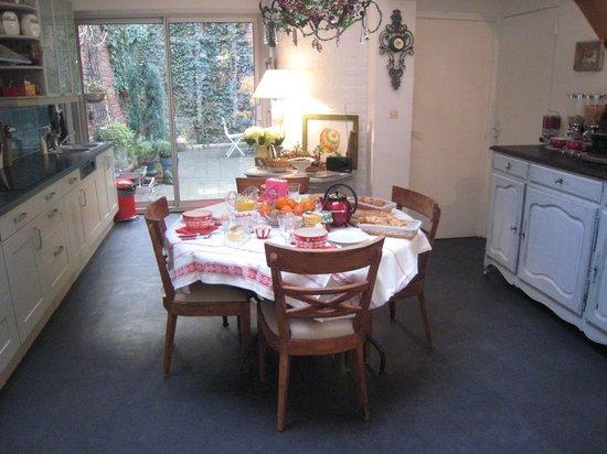"""La Maison Flamen : L'espace """"petit-déjeuner"""""""