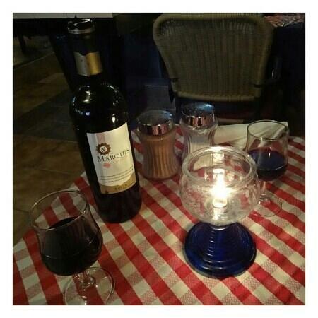 Giorgios: Wine is cheaper than the UK.
