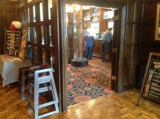 entrance hall through to the bar