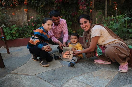 Pushpa Guest House: ers,choice-2013 winner ,raj's family photo