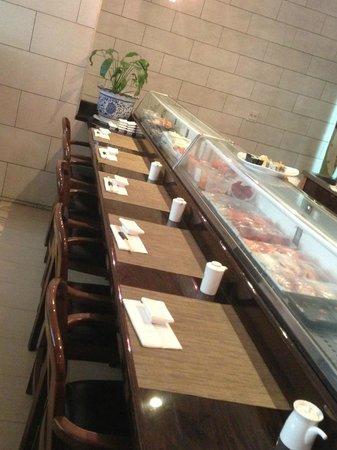 Sushi bar at 3pm