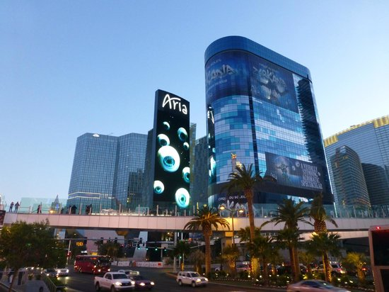 Aria Resort Las Vegas Sign Outside