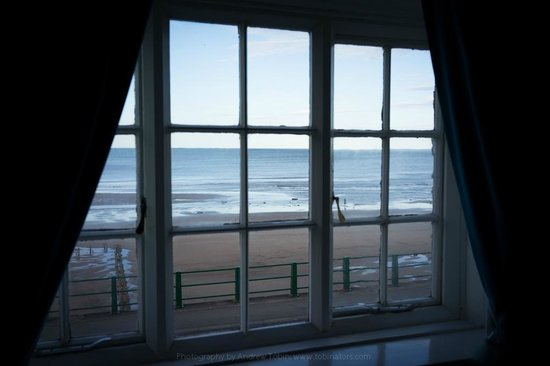 The Beach Hotel: View from my room. Road a bit noisy but the sea makes up for it.