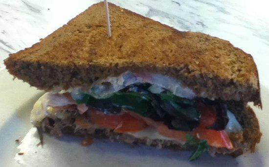 Marie Catrib's of Grand Rapids : This photo is of half of the Roast Beef sandwich.