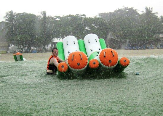 Aquapark: still fun in the rain