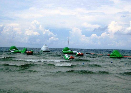 Aquapark: choppy seas = more challenging