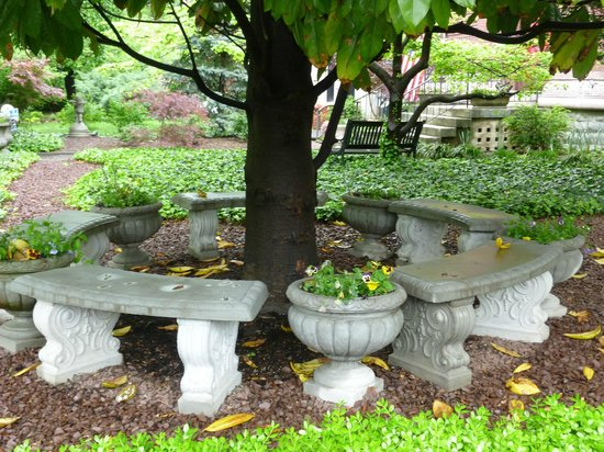 Central Park Bed and Breakfast: Outside garden