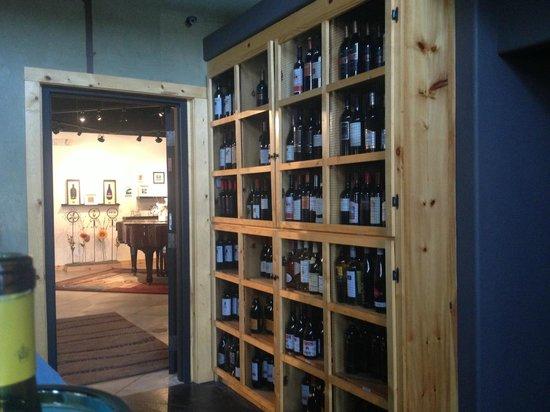 Canoe Club Wine Bar: Wine Display