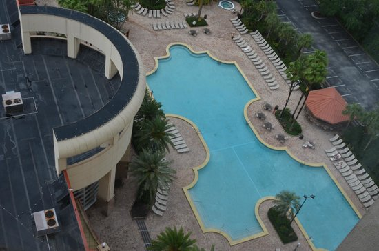 Rosen Centre Hotel: Pool area from room