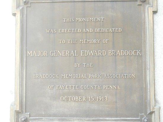 Fort Necessity National Battlefield: General Braddock's memorial