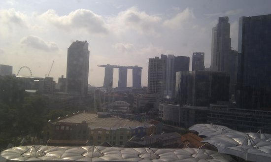 Novotel Singapore Clarke Quay: Great view but windows needs a clean....