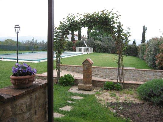 Antico Borgo Frosini: panorama dalla cucina appartamento Gemma