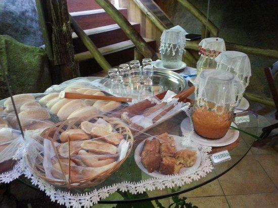 Pousada Naturalia: Café da manhã paes e sucos