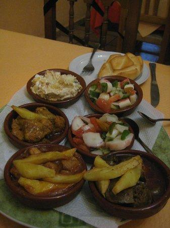 Meson La Alegria: Poor food
