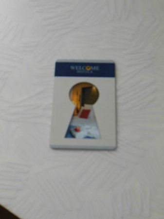 Welcome Hotel Marburg: Keycard - hold up to the lock to open