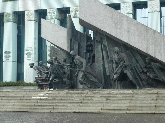 Monument to the Warsaw Uprising Fighters: The monument.