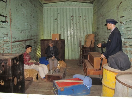 Wilmington Railroad Museum: Hobos in the box car
