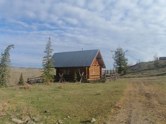 Big Bar Guest Ranch: Our private log cabin