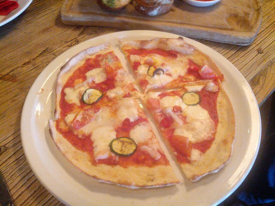The Encore : pizza gamberetti - meagre toppings